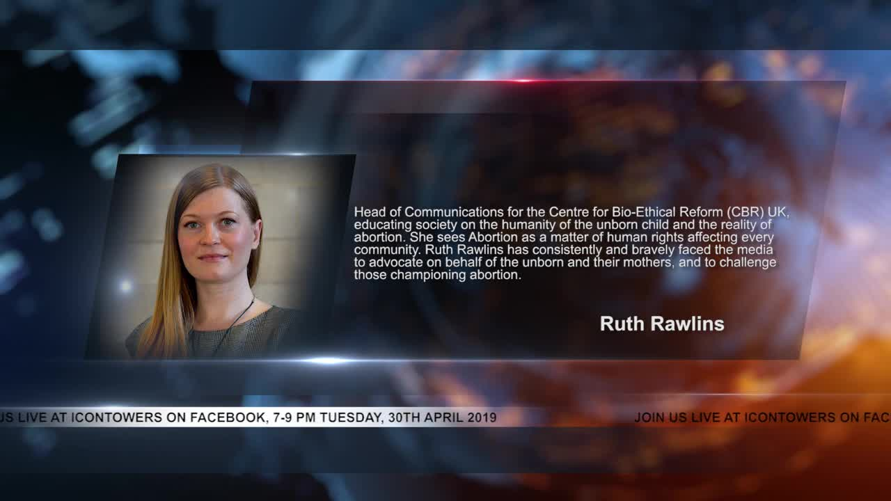 Ruth Rawlins (CBR UK) will be live at Icontowers (FB) Tuesday 30th