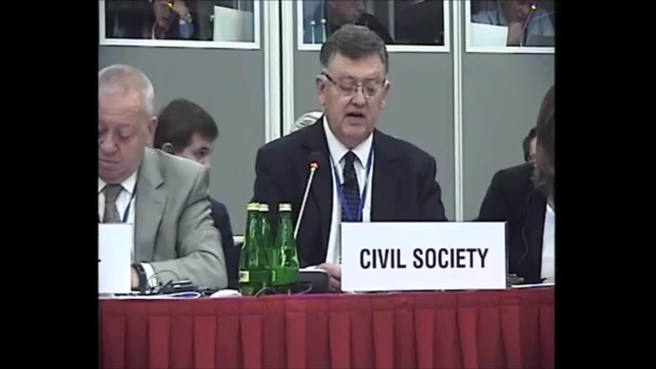 Warsaw, Poland (OSCE HDIM ) Session 12 29th September 2015